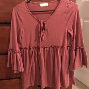 Altard State, burgundy top, size XS